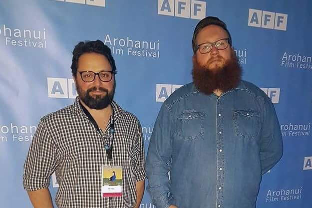 Waikato alumni Jeremy Mayall and Dan Inglis at the third annual Arohanui film festival last weekend